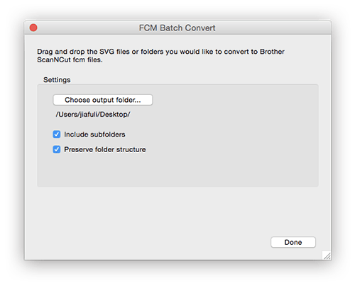 SVG to FCM Converter